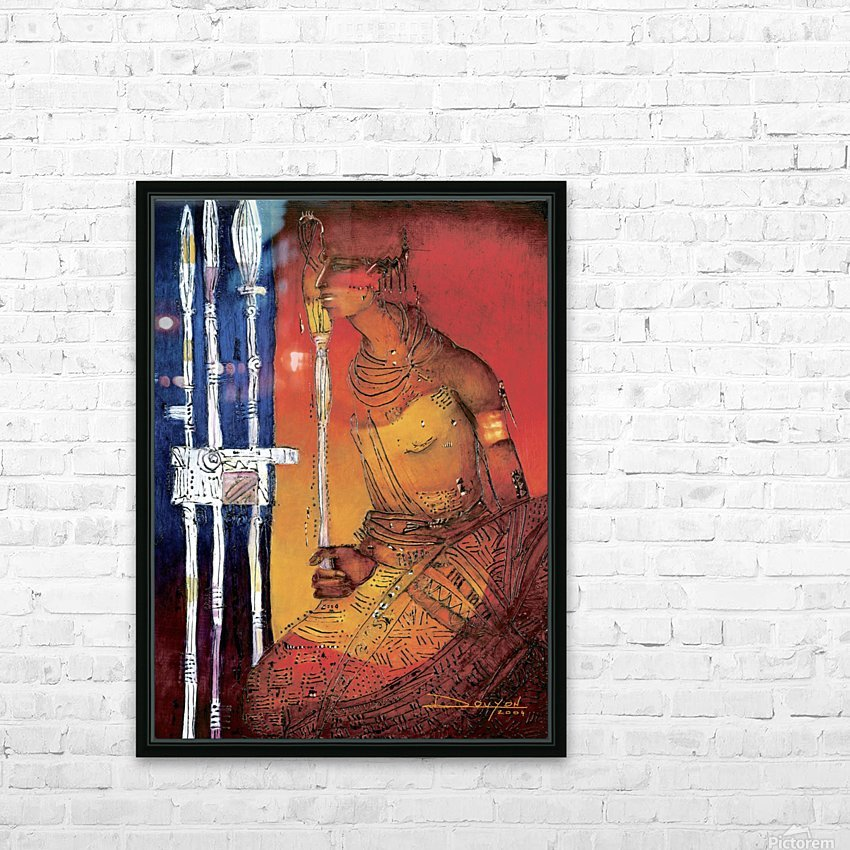 Massai HD Sublimation Metal print with Decorating Float Frame (BOX)