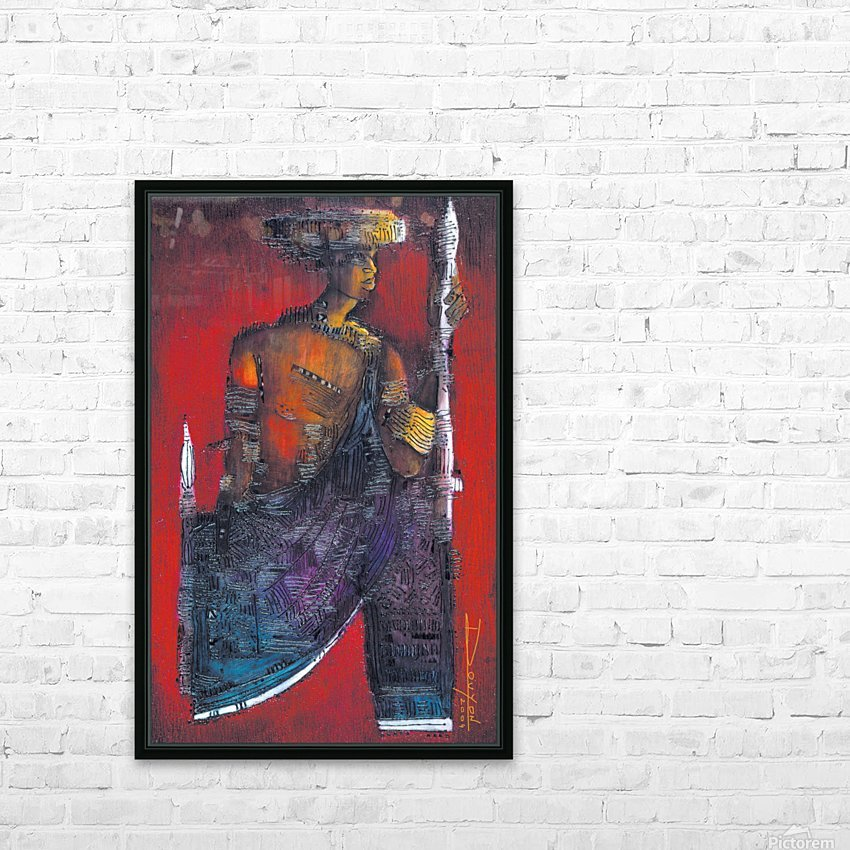 Red Massai HD Sublimation Metal print with Decorating Float Frame (BOX)
