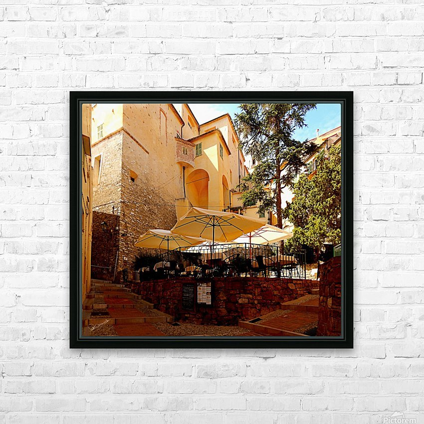 French Village Bistro HD Sublimation Metal print with Decorating Float Frame (BOX)