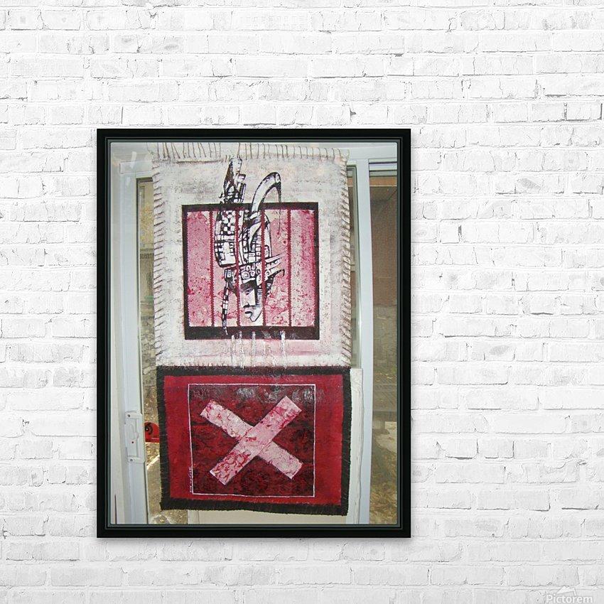 le rouge et le noir HD Sublimation Metal print with Decorating Float Frame (BOX)