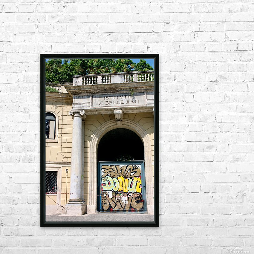 School of Fine Art HD Sublimation Metal print with Decorating Float Frame (BOX)