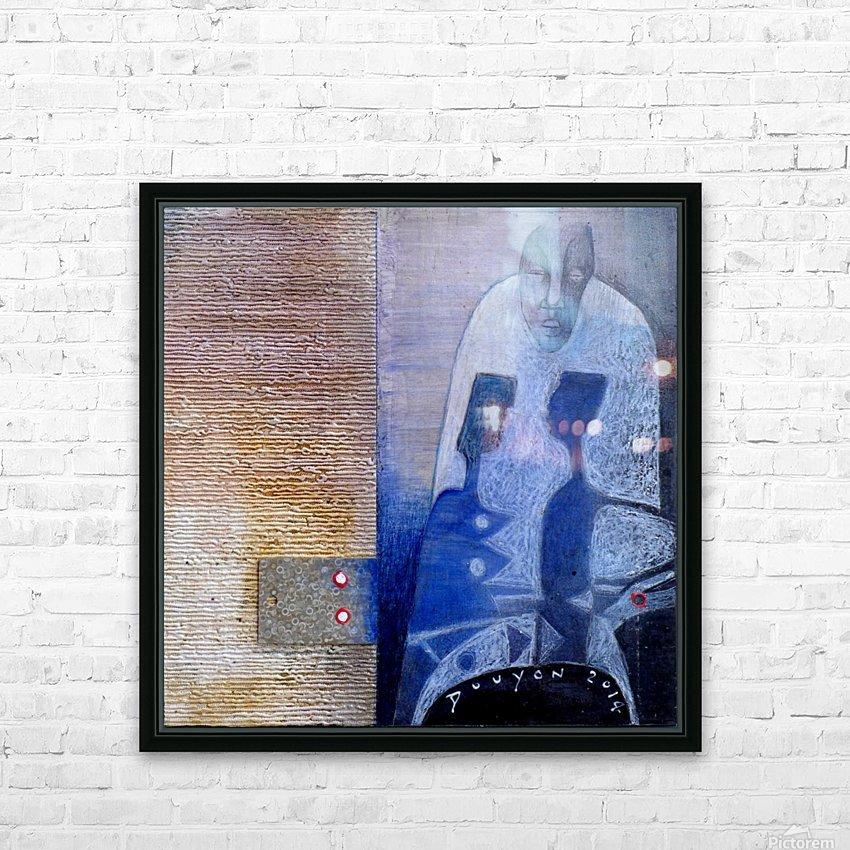 blue horserider 3 HD sublimation métal imprimé avec décoration flotteur cadre (boîte)