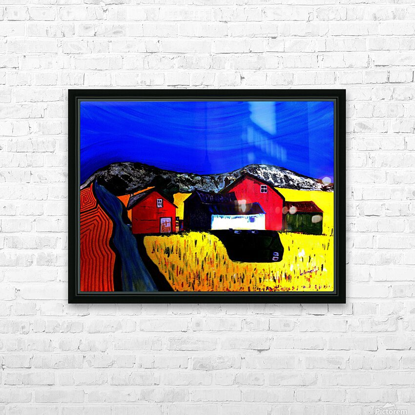 Farm Land HD Sublimation Metal print with Decorating Float Frame (BOX)