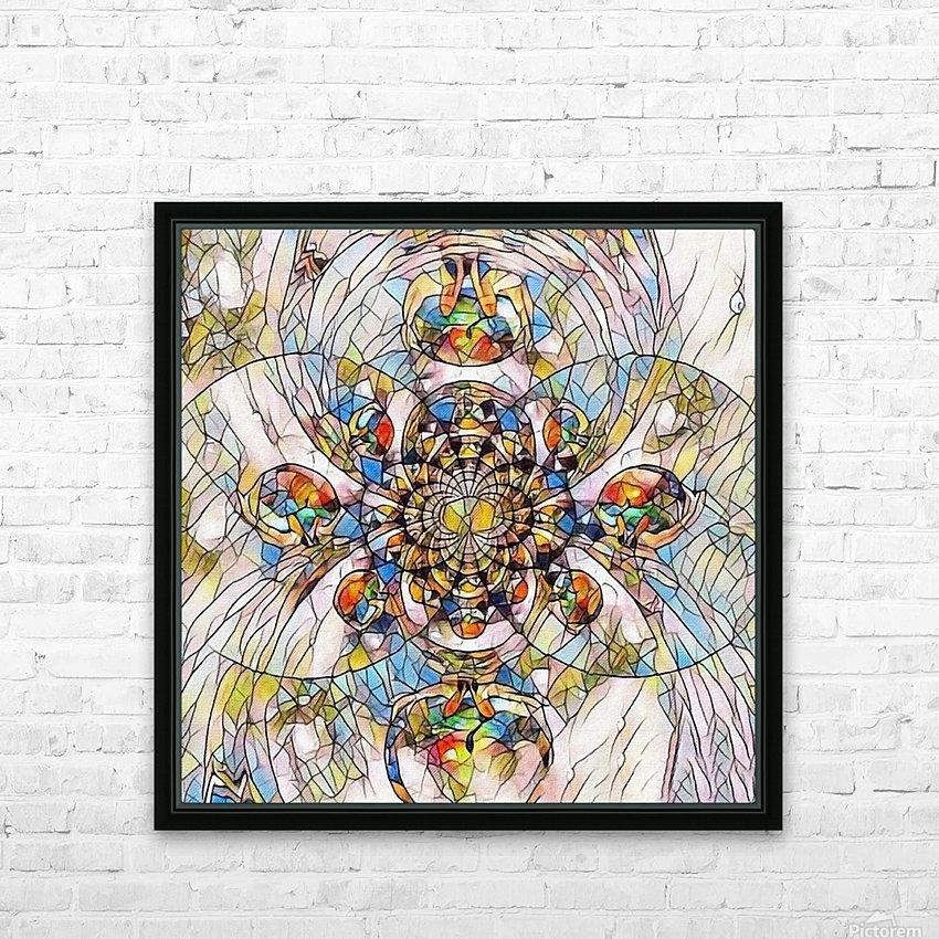 Mosaic Fractal HD Sublimation Metal print with Decorating Float Frame (BOX)