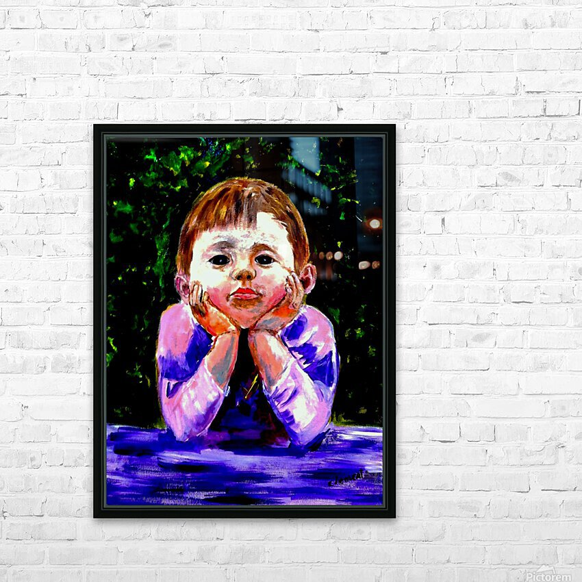 A Young Boy is Waiting HD Sublimation Metal print with Decorating Float Frame (BOX)