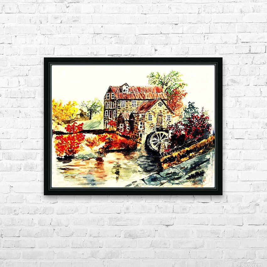 Farm House HD Sublimation Metal print with Decorating Float Frame (BOX)