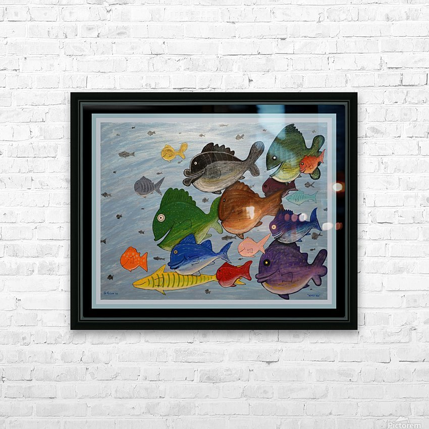 NEVER SEA - ACRYLIC PAINTING HD Sublimation Metal print with Decorating Float Frame (BOX)