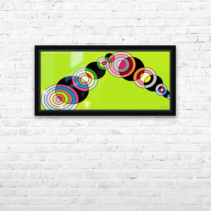 worm HD Sublimation Metal print with Decorating Float Frame (BOX)