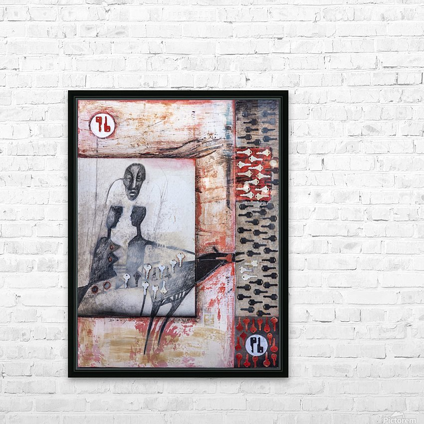 The key HD Sublimation Metal print with Decorating Float Frame (BOX)