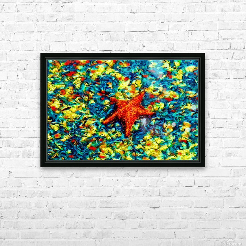 Ocean Life HD Sublimation Metal print with Decorating Float Frame (BOX)