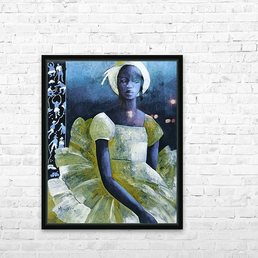 Birthday girl HD Sublimation Metal print with Decorating Float Frame (BOX)