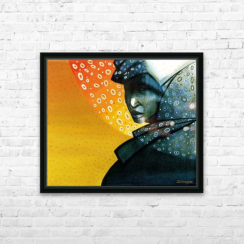 Femme soleil HD Sublimation Metal print with Decorating Float Frame (BOX)