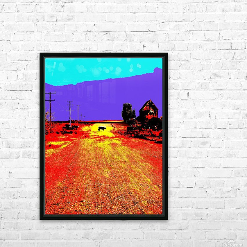 Cows Crossing - Outback Australia HD Sublimation Metal print with Decorating Float Frame (BOX)