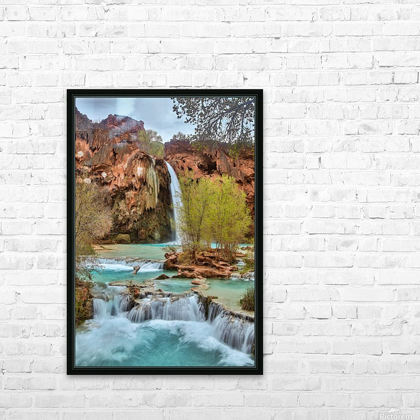 life is like a river HD Sublimation Metal print with Decorating Float Frame (BOX)