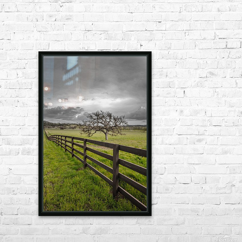 Melancholic HD Sublimation Metal print with Decorating Float Frame (BOX)