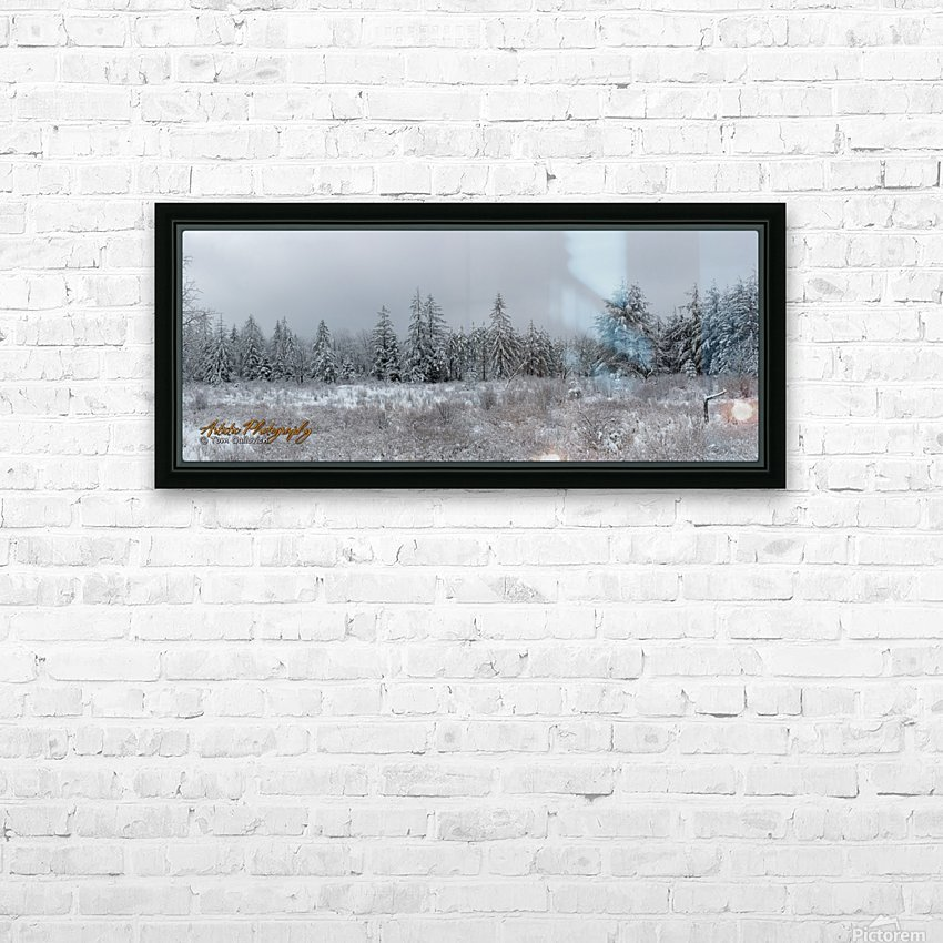 Treeline HD Sublimation Metal print with Decorating Float Frame (BOX)