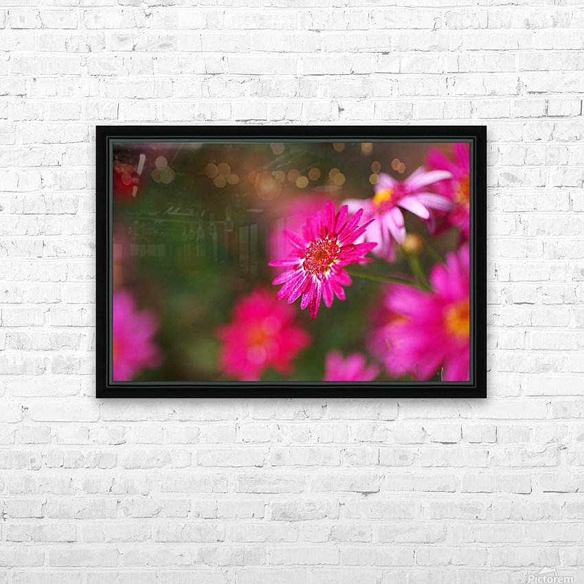 Hot Pink Small Daisy HD Sublimation Metal print with Decorating Float Frame (BOX)