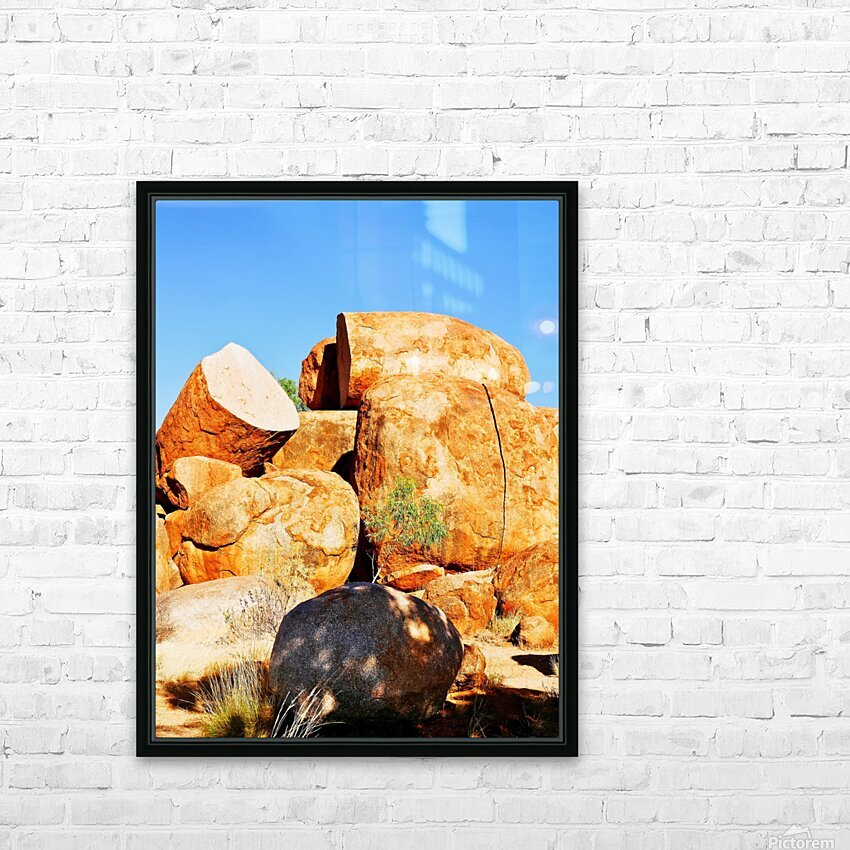 Lone Tree - Devils Marbles HD Sublimation Metal print with Decorating Float Frame (BOX)