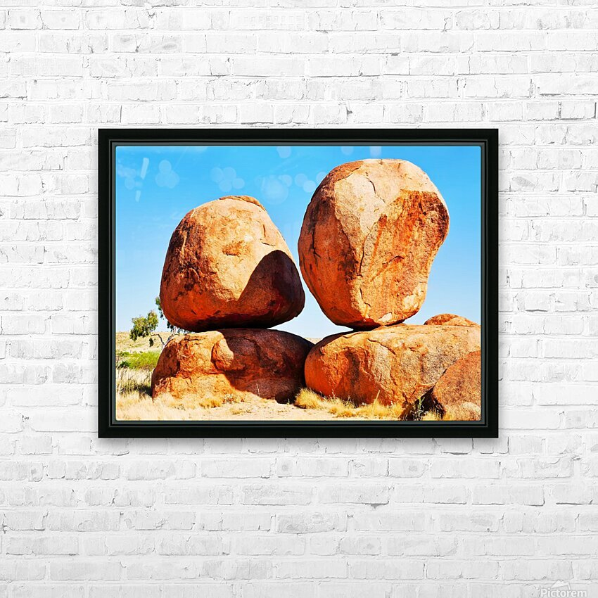 Balance - Devils Marbles HD Sublimation Metal print with Decorating Float Frame (BOX)