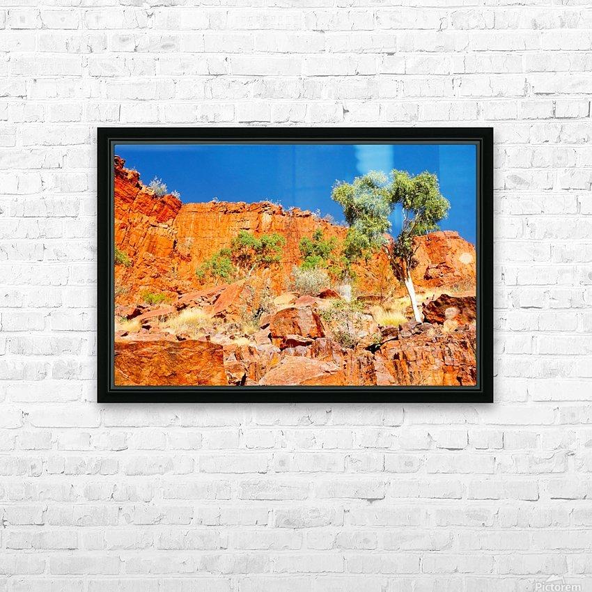 Ormiston Gorge Landscape HD Sublimation Metal print with Decorating Float Frame (BOX)