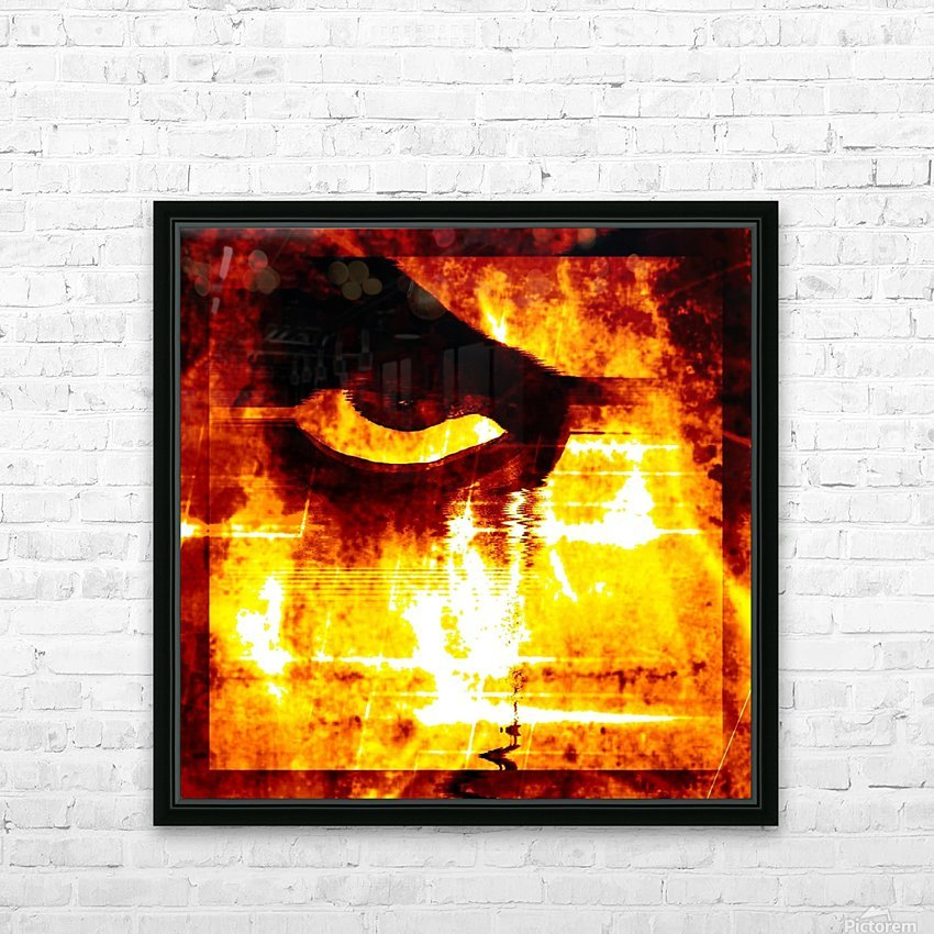 Modern Eye Fire HD Sublimation Metal print with Decorating Float Frame (BOX)