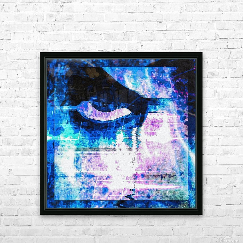 Modern Eye 1 HD Sublimation Metal print with Decorating Float Frame (BOX)