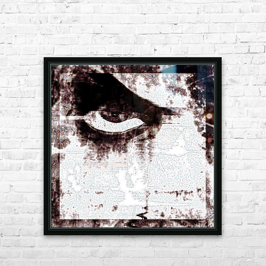 Modern Eye Emboss HD Sublimation Metal print with Decorating Float Frame (BOX)