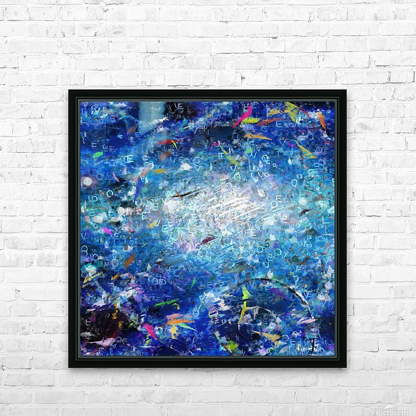 Abstract Canvas HD Sublimation Metal print with Decorating Float Frame (BOX)