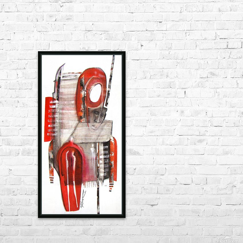 noir_blanc_rouge HD Sublimation Metal print with Decorating Float Frame (BOX)