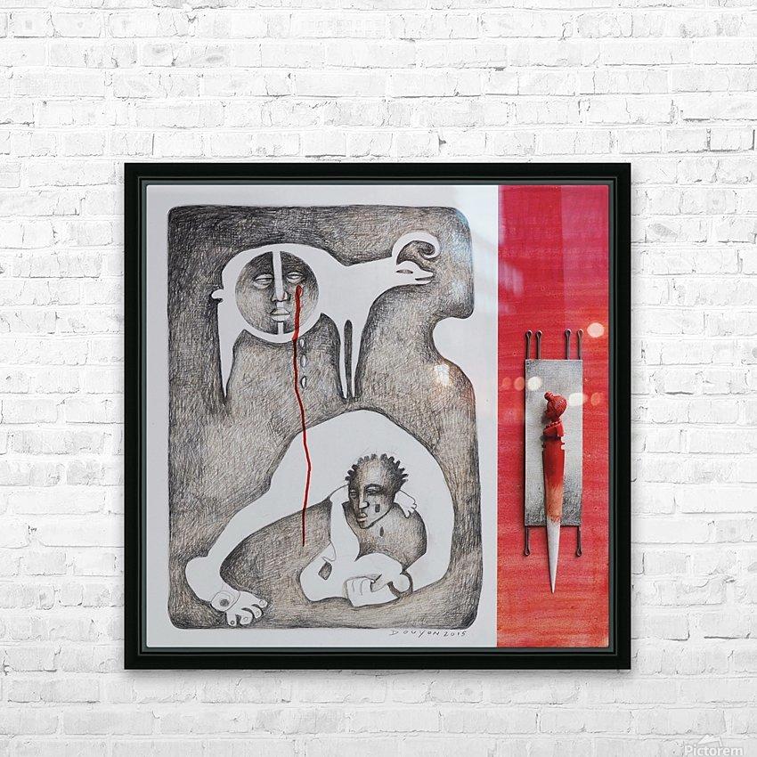 red sacrifice_vermeil HD sublimation métal imprimé avec décoration flotteur cadre (boîte)