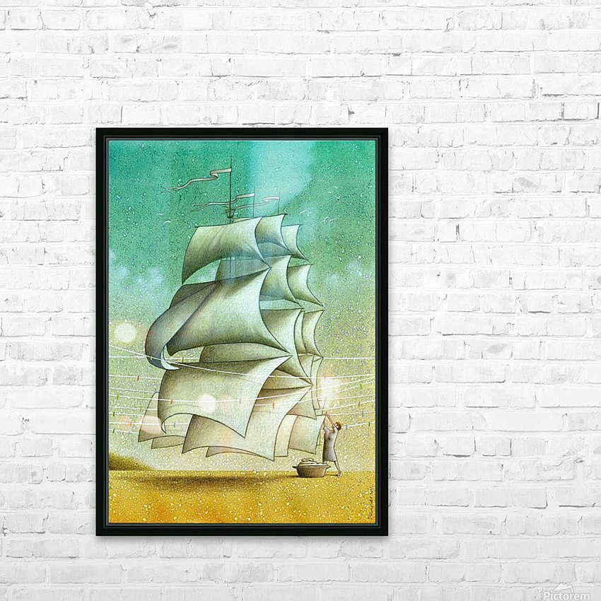 Boat HD Sublimation Metal print with Decorating Float Frame (BOX)