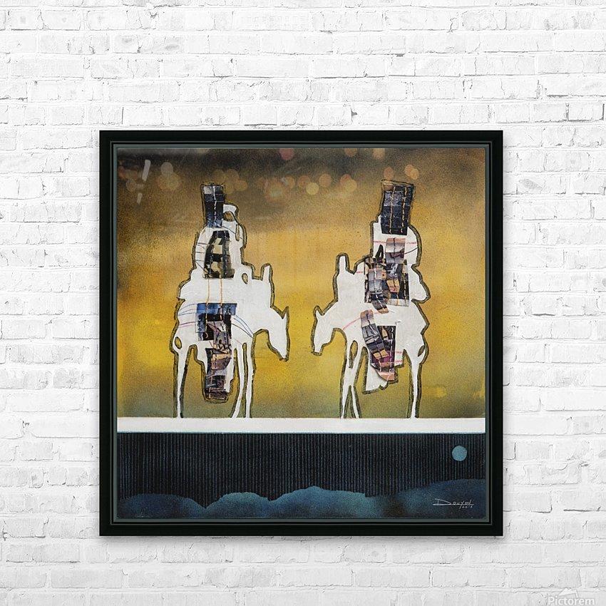 Donkey talk HD sublimation métal imprimé avec décoration flotteur cadre (boîte)