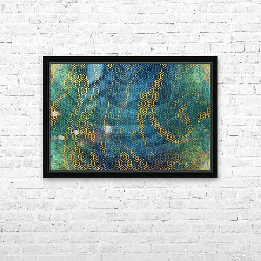 Geometric XXXXXIII HD Sublimation Metal print with Decorating Float Frame (BOX)