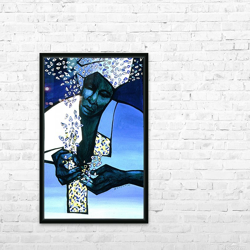 blue fragments HD Sublimation Metal print with Decorating Float Frame (BOX)