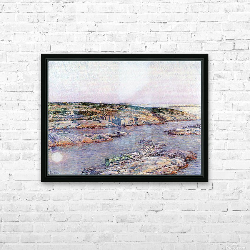 Summer afternoon, the Isles of Shoals by Hassam HD Sublimation Metal print with Decorating Float Frame (BOX)
