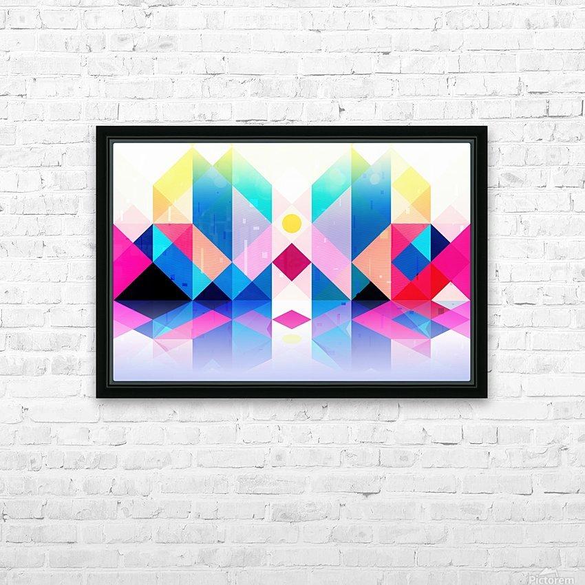 Geometric XXXXXV HD Sublimation Metal print with Decorating Float Frame (BOX)