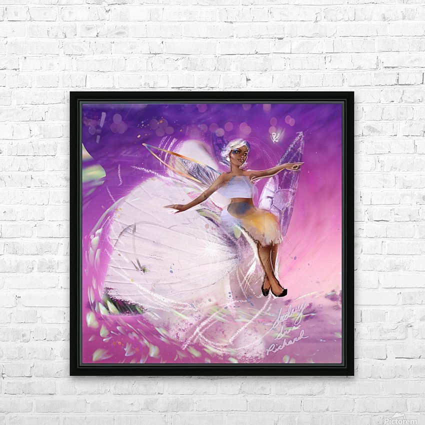FAIRY HD Sublimation Metal print with Decorating Float Frame (BOX)