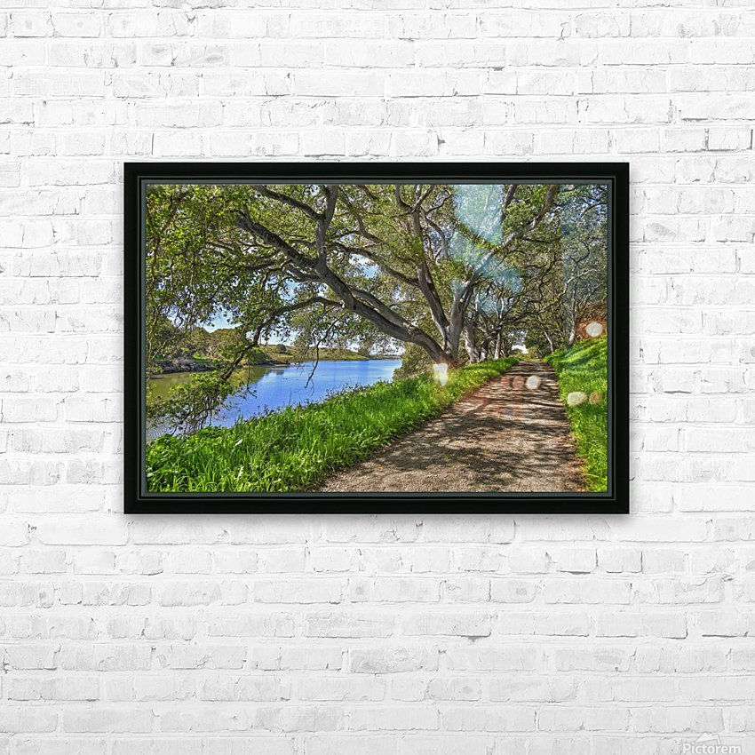 By the river HD Sublimation Metal print with Decorating Float Frame (BOX)