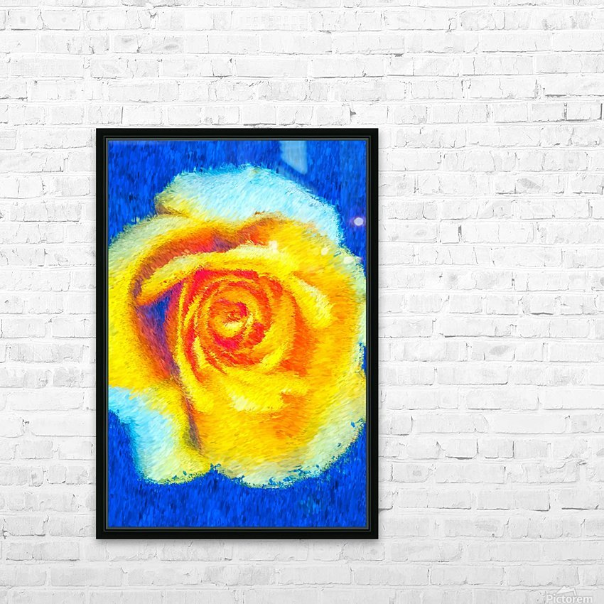 Floating Rose HD Sublimation Metal print with Decorating Float Frame (BOX)