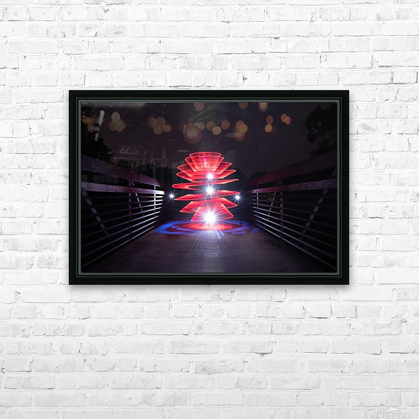 Rising Spiral HD Sublimation Metal print with Decorating Float Frame (BOX)