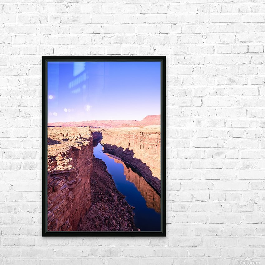 Marble Canyon HD Sublimation Metal print with Decorating Float Frame (BOX)