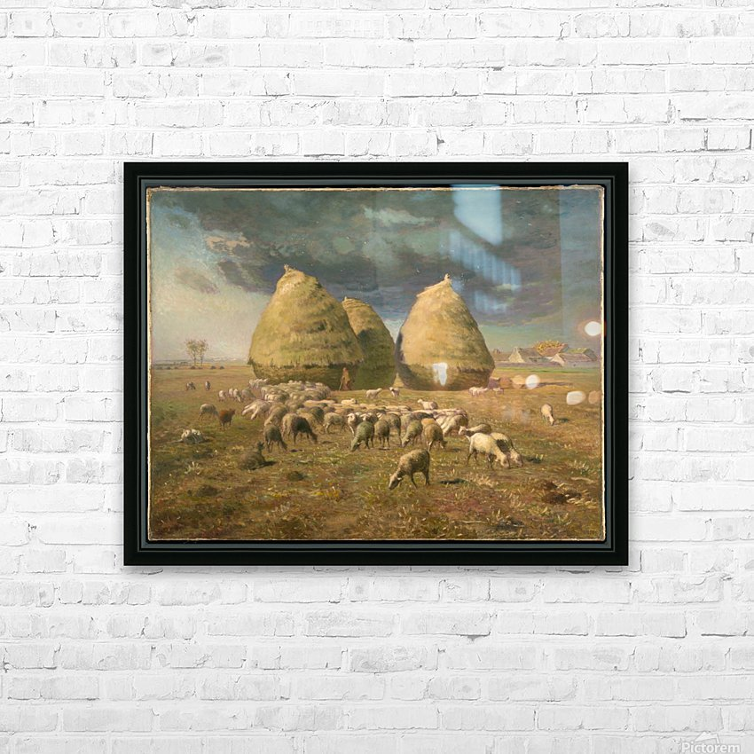 Haystacks - Autumn HD Sublimation Metal print with Decorating Float Frame (BOX)