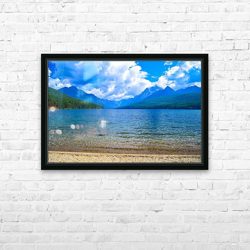 Bowman Lake HD Sublimation Metal print with Decorating Float Frame (BOX)