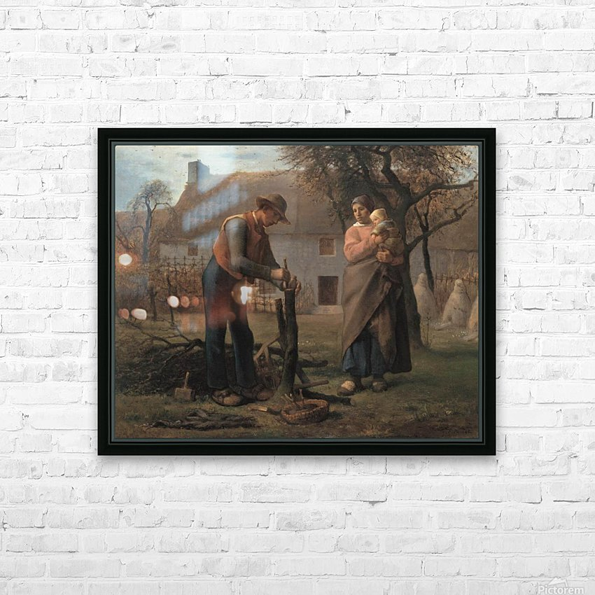 Farmer Inserting a Graft on a Tree HD Sublimation Metal print with Decorating Float Frame (BOX)