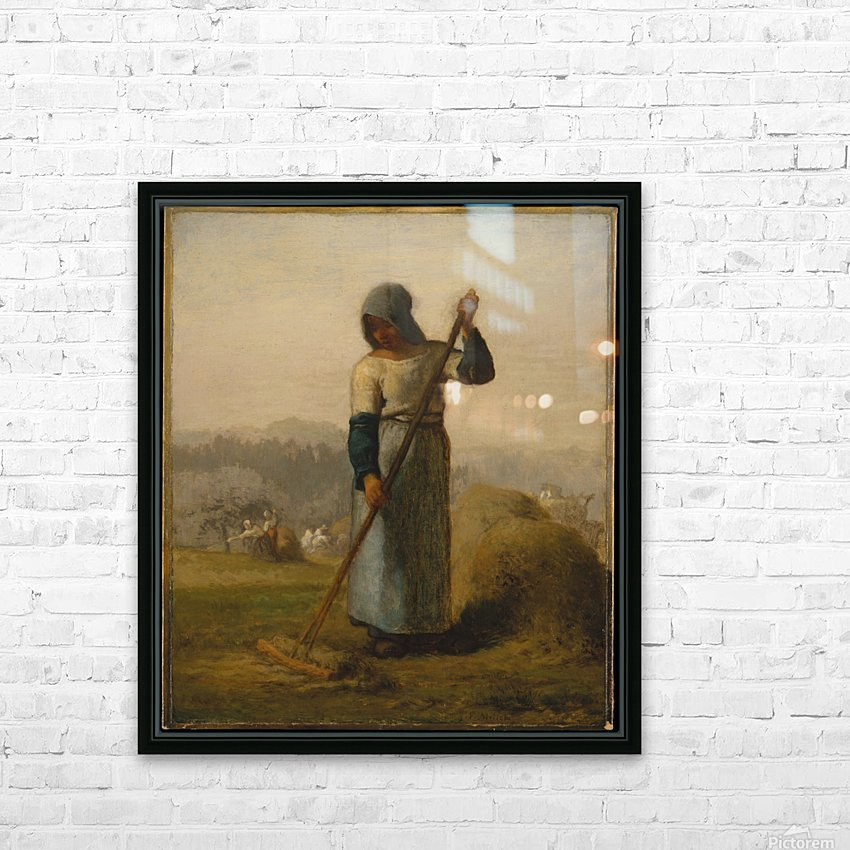 Woman with a Rake HD Sublimation Metal print with Decorating Float Frame (BOX)