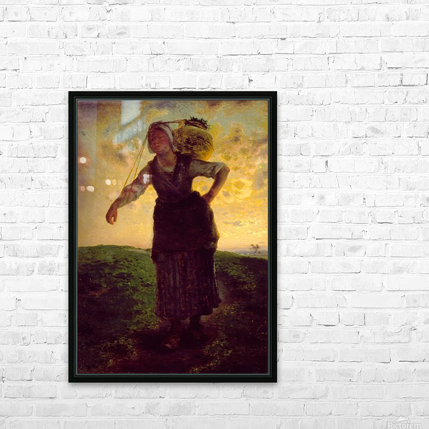 A Norman Milkmaid at Greville HD Sublimation Metal print with Decorating Float Frame (BOX)