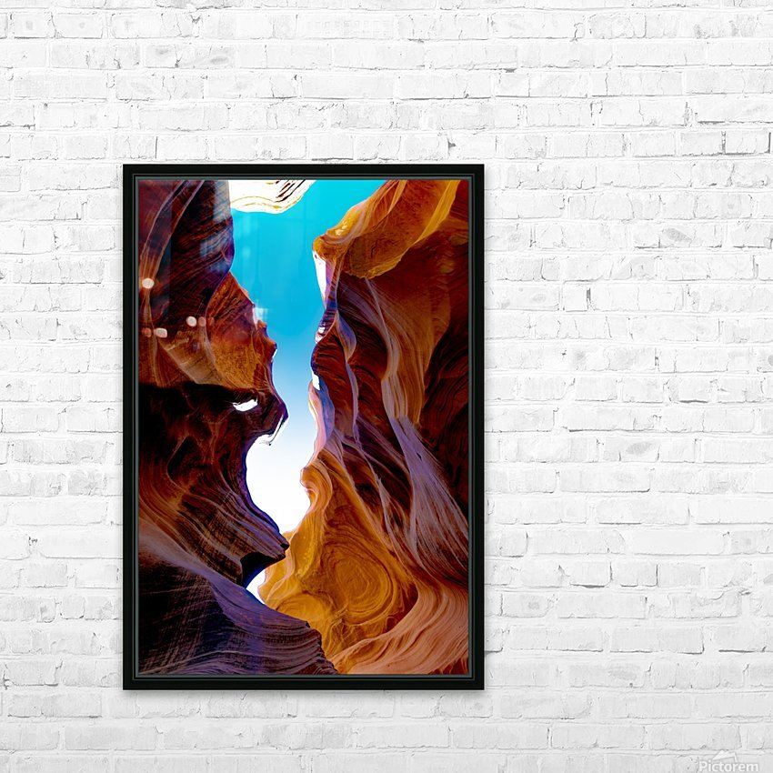 Lower Antelope Canyon HD Sublimation Metal print with Decorating Float Frame (BOX)