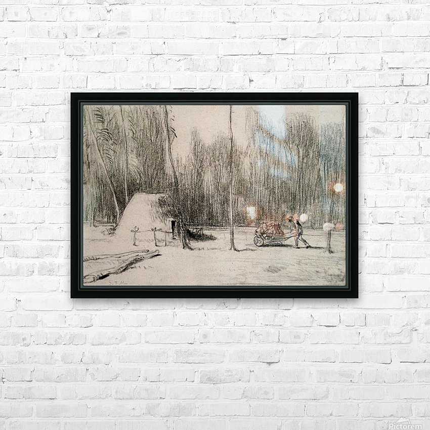 The Charcoal Burner's Hut HD Sublimation Metal print with Decorating Float Frame (BOX)