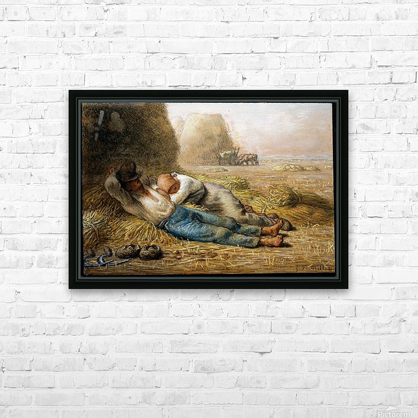 Sleeping peasants HD Sublimation Metal print with Decorating Float Frame (BOX)