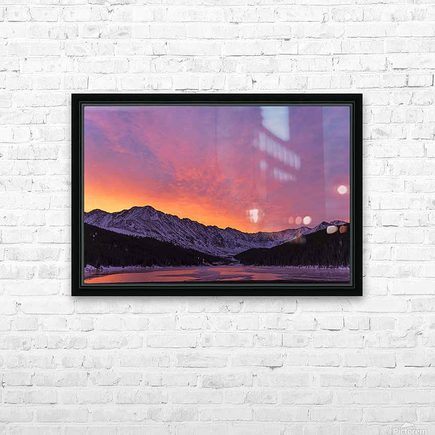 Clinton Gulch HD Sublimation Metal print with Decorating Float Frame (BOX)